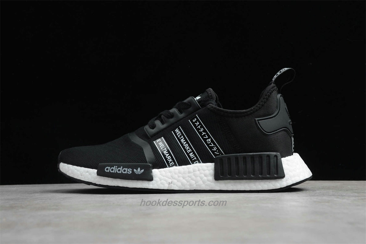 Chaussures 2020 Adidas NMD R1 Boost FX1033 Hommes Noir / Blanc