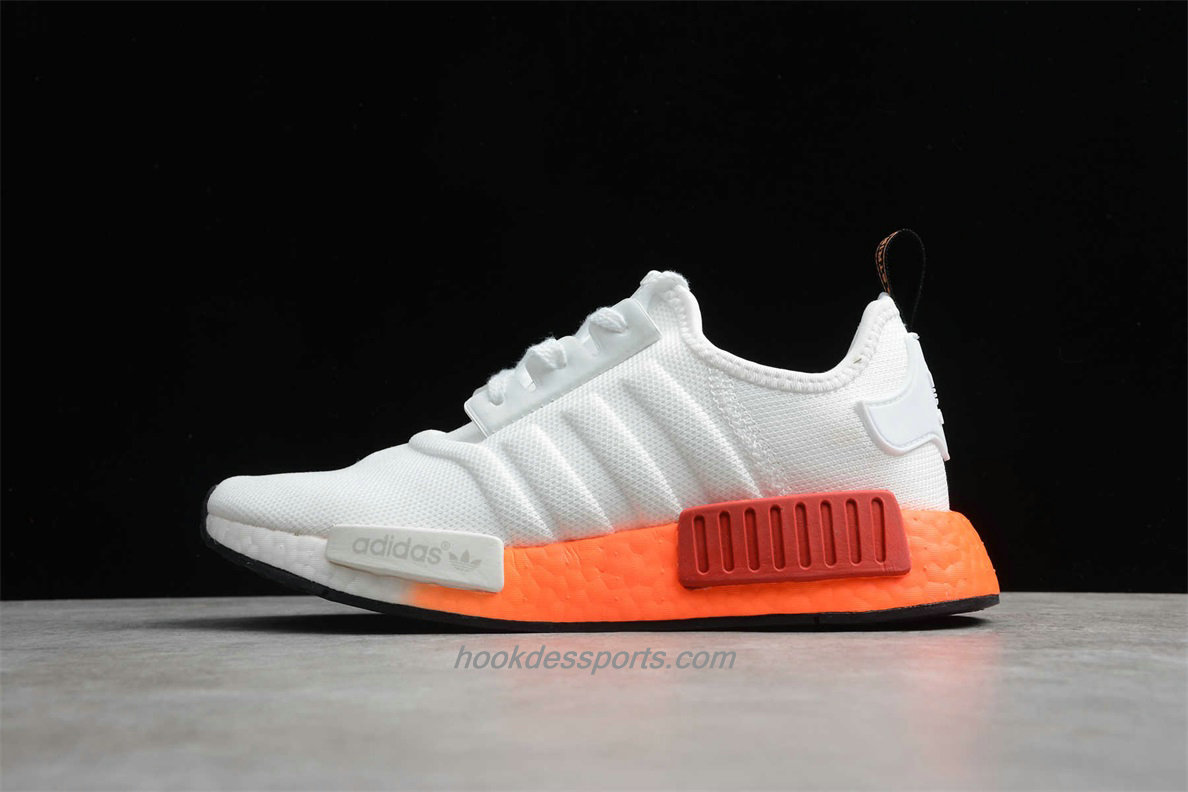 Chaussures 2020 Adidas NMD R1 Boost EF5860 Blanc / Orange / Rouge