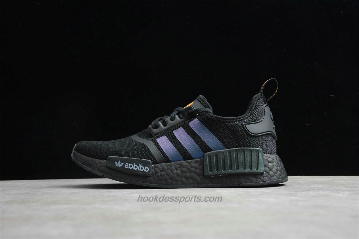 Chaussures 2020 Adidas NMD R1 Boost FV8025 Noir / Violet