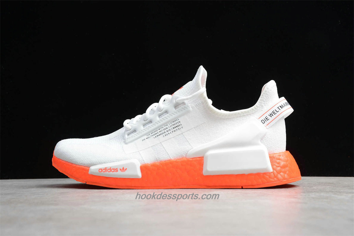 Chaussures Adidas Originals NMD R1 V2 FX3902 Blanc / Orange