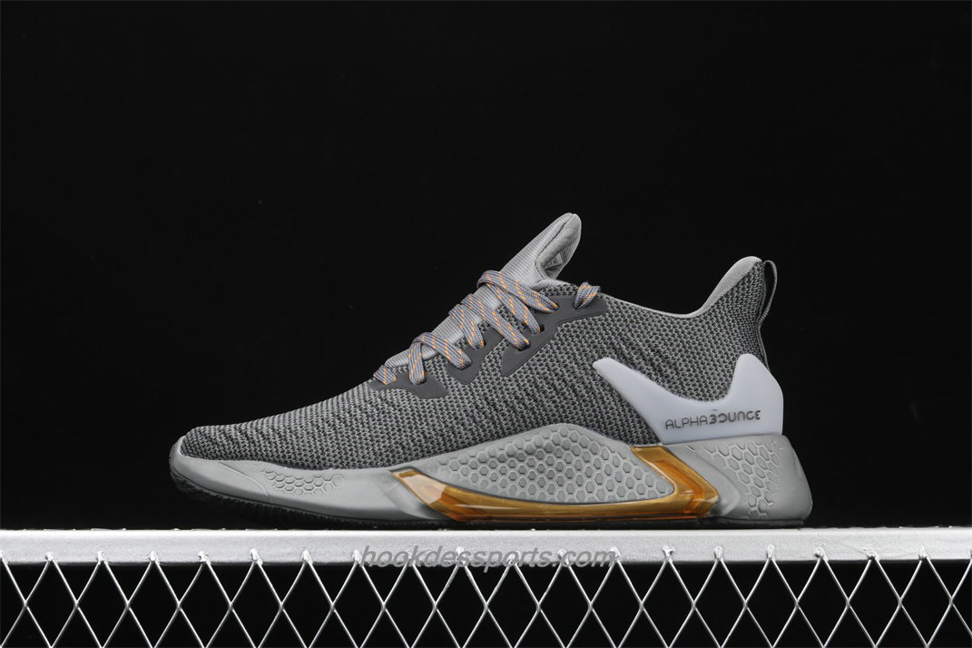 Chaussures Adidas Alphabounce Beyond CG5596 Hommes Gris foncé / Or