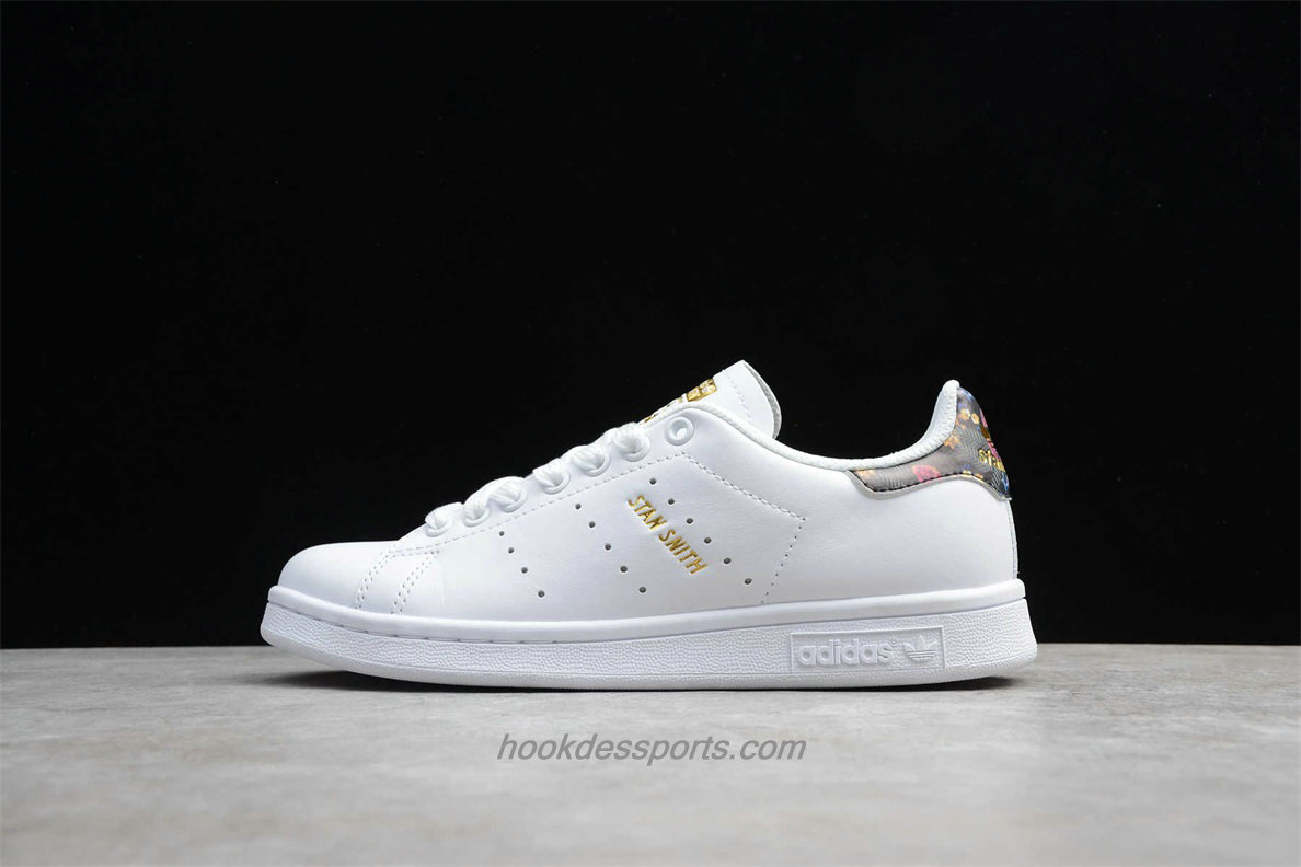 Chaussures Adidas Originals Stan Smith EF1481 Femmes Blanc / Or / Gris