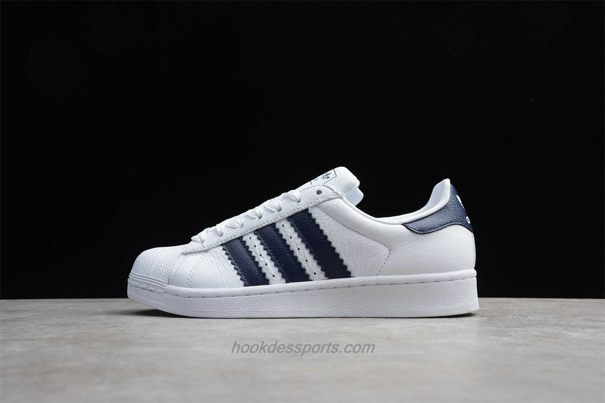 Chaussures Adidas Originals Superstar BD8069 Blanc / Bleu marin