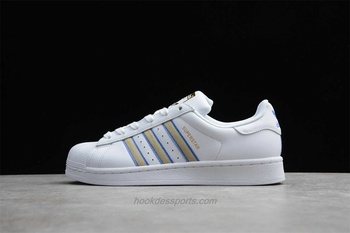 Chaussures Adidas Originals Superstar CG0619 Blanc / Kaki / Bleu