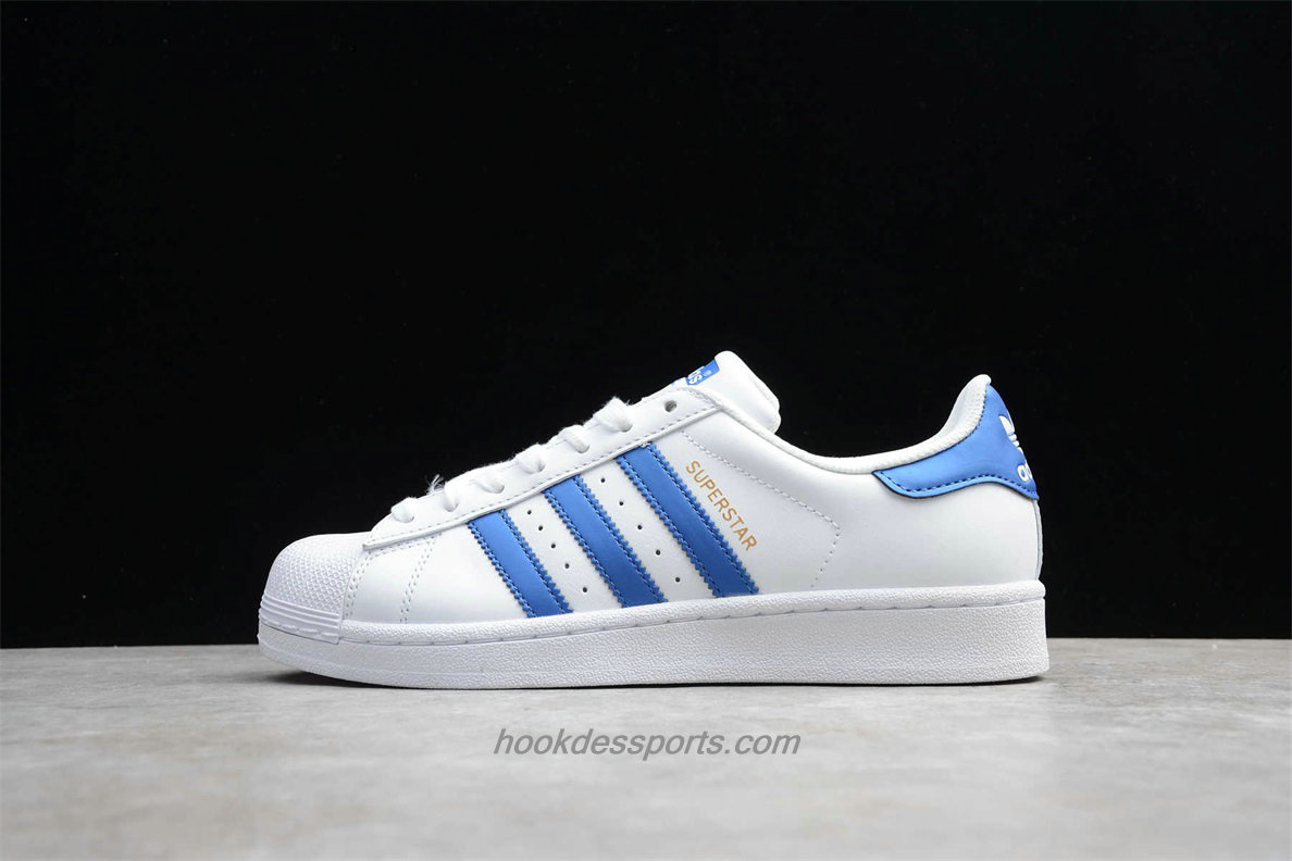 Chaussures Adidas Originals Superstar D98000 Blanc / Bleu