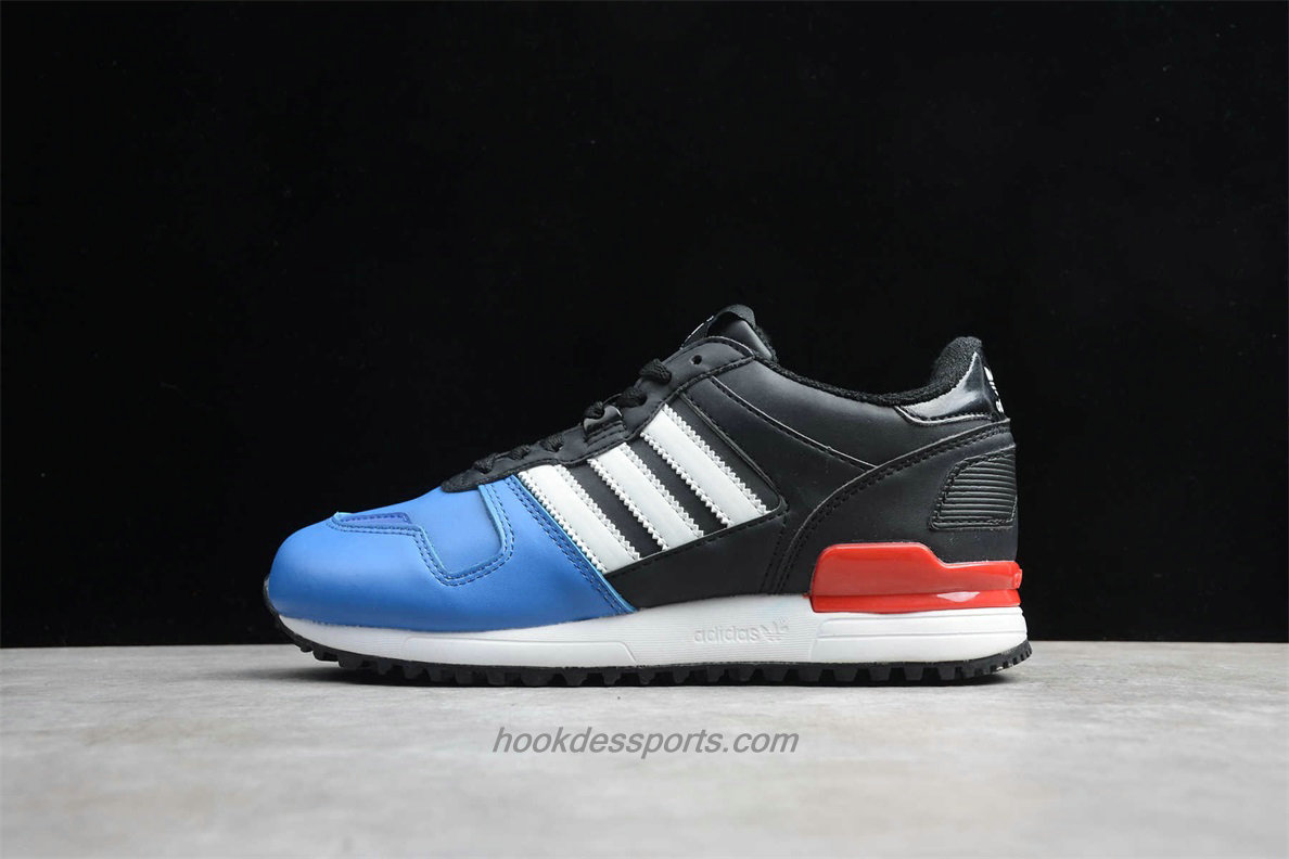 Chaussures Adidas Originals ZX 700 Leather AQ5315 Bleu / Noir