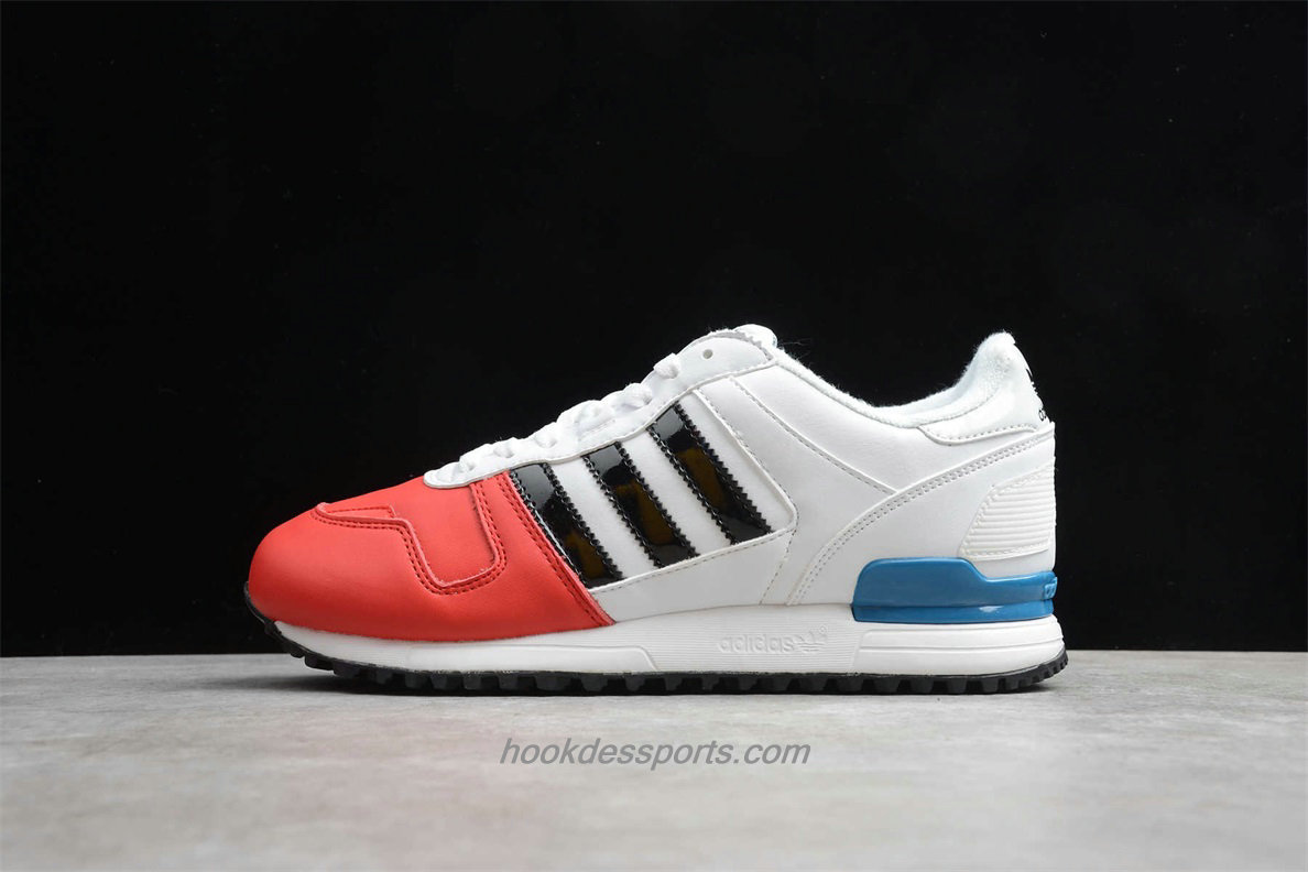 Chaussures Adidas Originals ZX 700 Leather AQ5316 Rouge / Blanc
