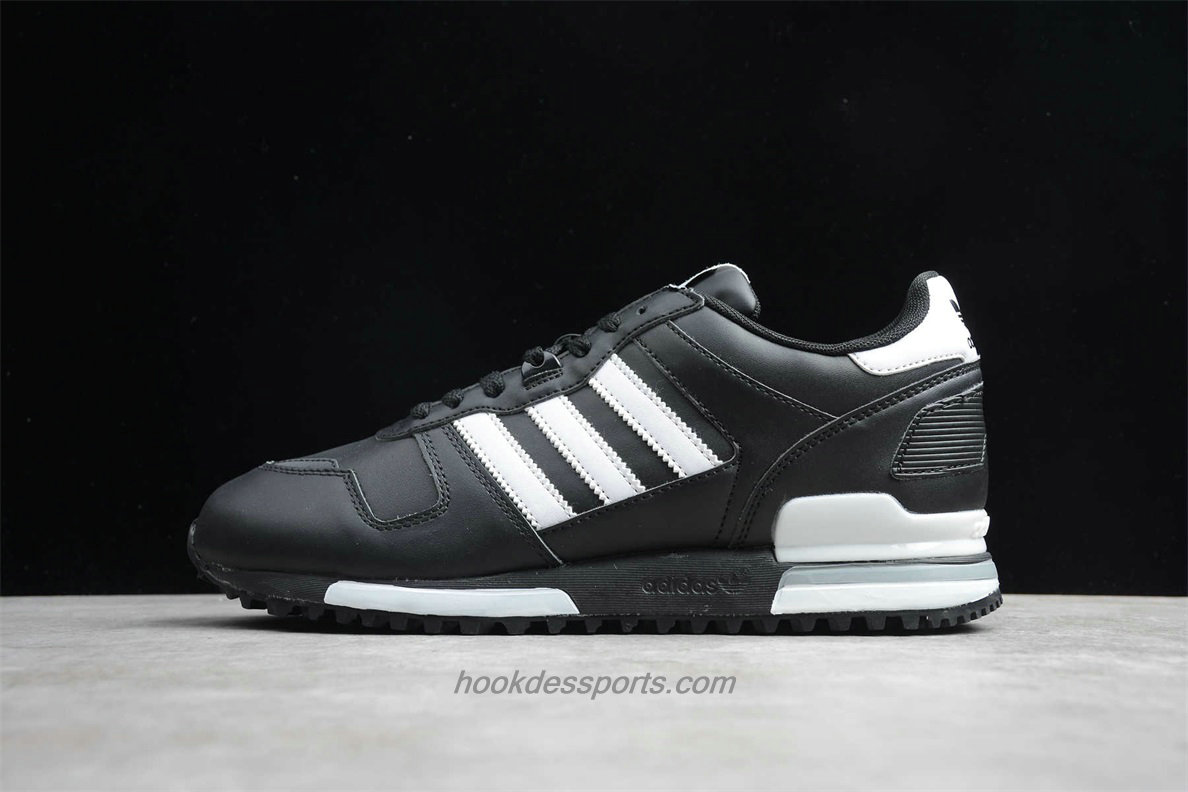 Chaussures Adidas Originals ZX 700 Leather G63499 Noir / Blanc