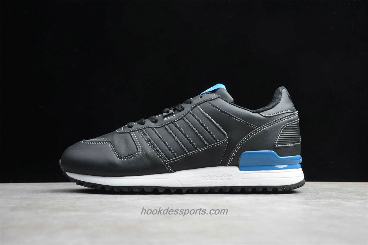 Chaussures Adidas Originals ZX 700 Leather G68638 Noir / Bleu