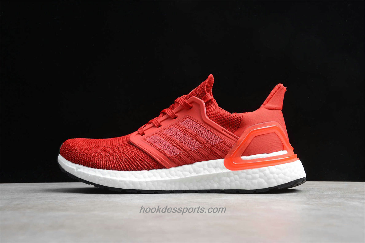 Chaussures Adidas UltraBoost 2020 EG0706 Rouge / Blanc